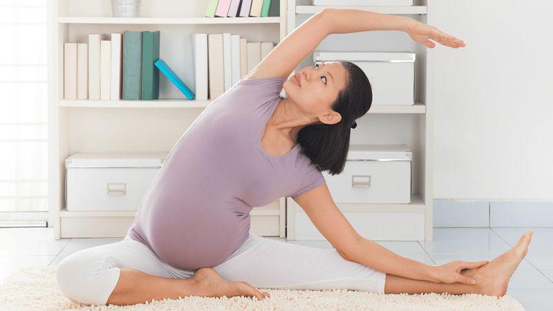 Yoga cho bà bầu là bài tập giảm cân cho bà bầu nhẹ nhàng