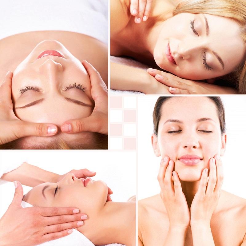 Đừng quên massage mặt nhé
