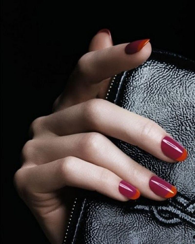 Kiểu móng hai tông màu cực kỳ phong cách