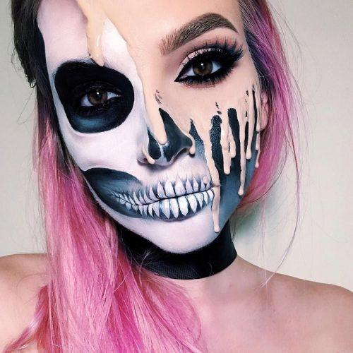 Kiểu makeup Melting khiến đám đông giật mình