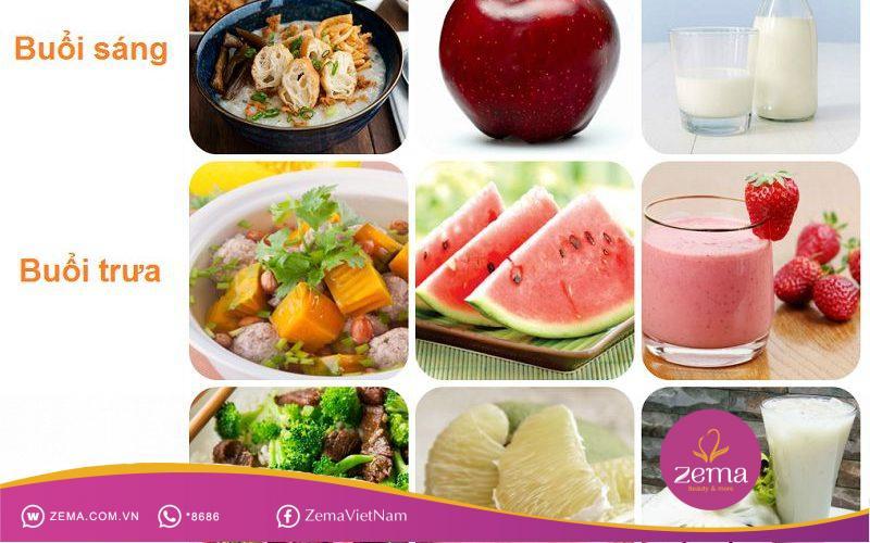Tham khảo thực đơn 1 ngày ăn kiêng