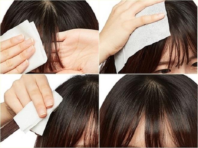 Giấy giữ tóc mái không bị bết của Hàn