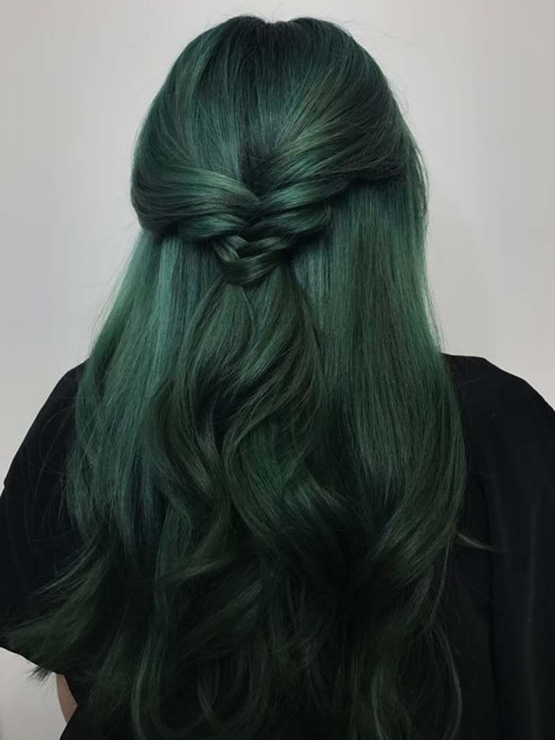 Tóc xanh rêu ánh khói