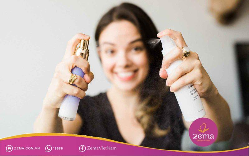 Sử dụng dầu gội khô nhanh chóng xử lý tóc mái bị bết