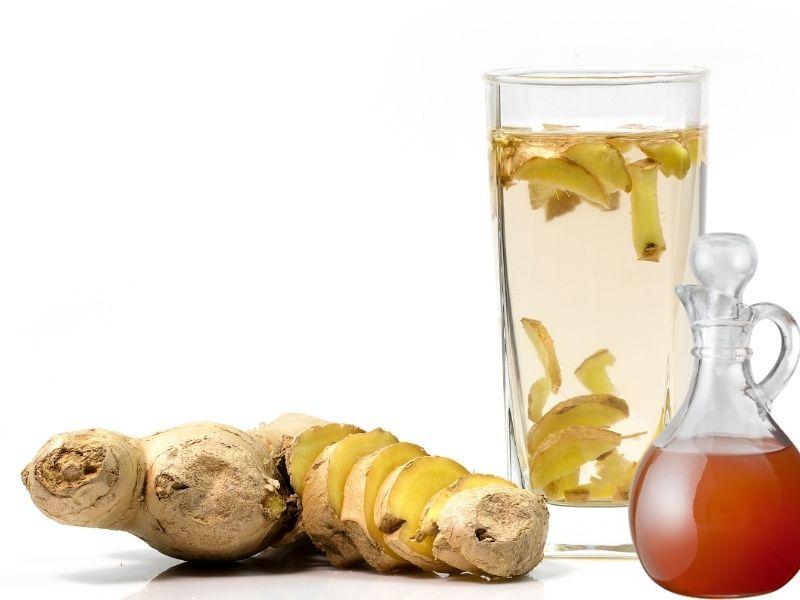 Gừng ngâm dấm táo có tác dụng giảm mỡ bụng