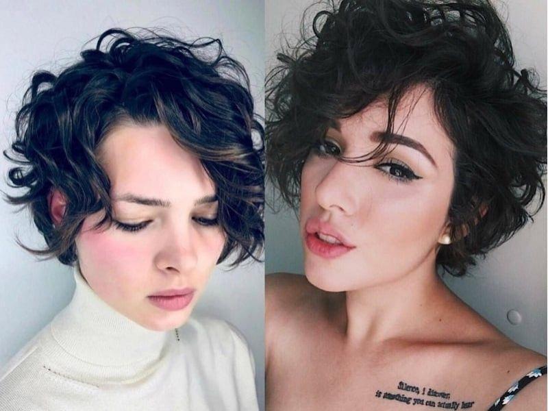 Kiểu tóc xoăn cắt ngắn
