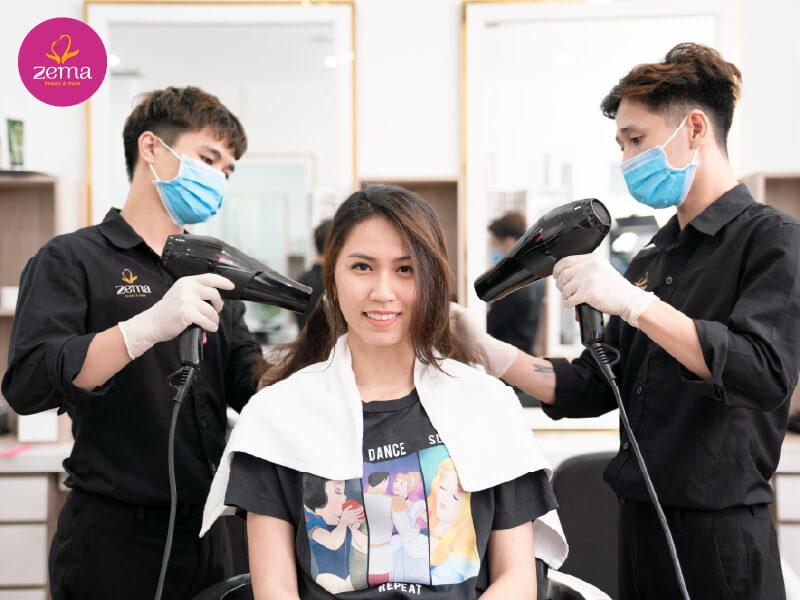 Dịch vụ cắt tóc tạo kiểu nữ chuyên nghiệp tại Zema Việt Nam