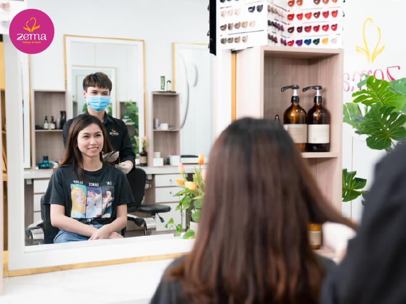 Quy trình chuẩn cắt tóc nữ tại Zema Việt Nam