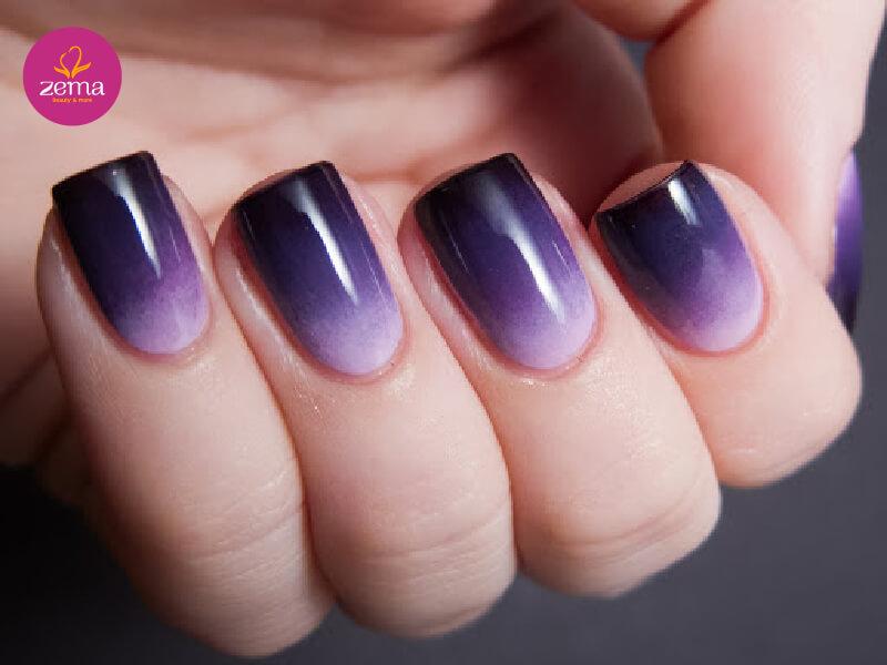 Tự do thiết kế Ombre với nhúng bột nail
