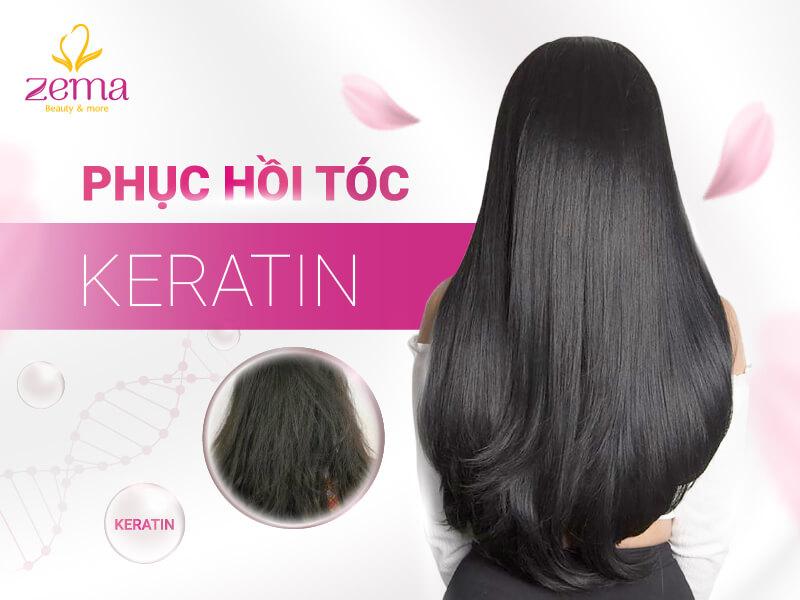 Dịch vụ phục hồi tóc keratin tại Zema Việt Nam