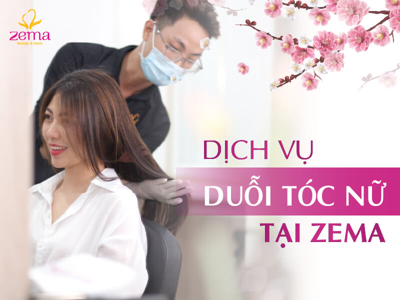 Dịch vụ duỗi tóc nữ tại Zema Việt Nam