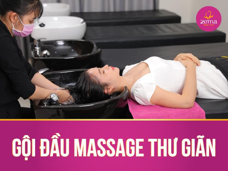 Dịch vụ gội đầu massage thư giản tại Zema Việt Nam