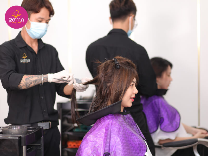 Quy trình chuẩn nhuộm tóc tại Zema Việt Nam