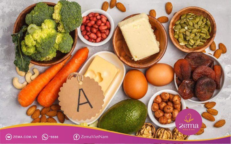 Vitamin A làm chậm quá trình sừng hóa của làn da