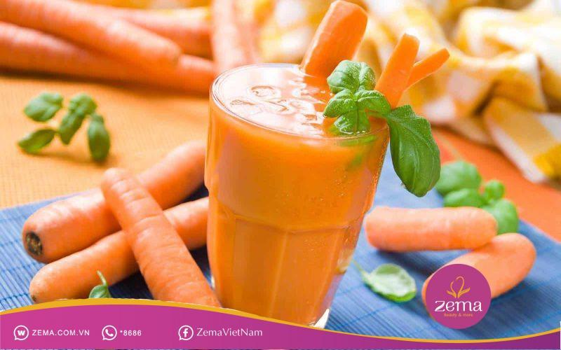 Sinh tố cà rốt vừa ngon vừa giảm cân