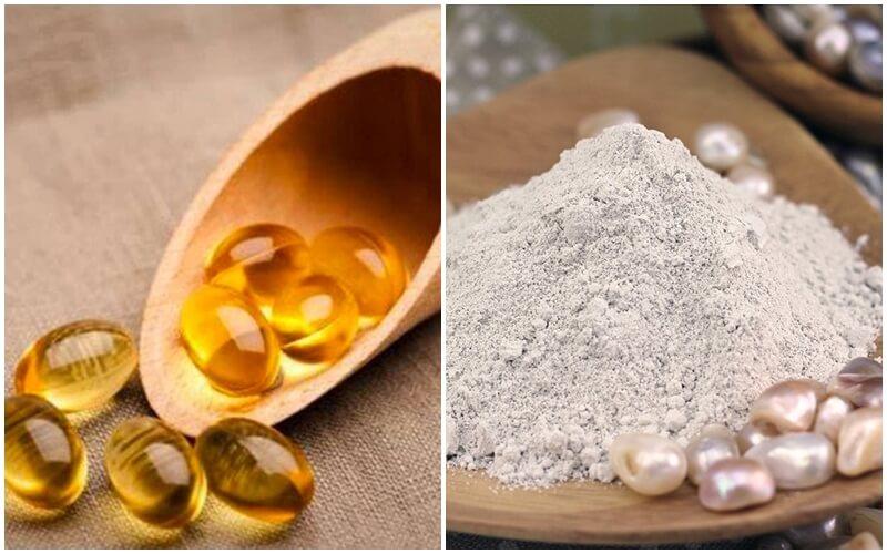 Tắm trắng bằng vitamin e với bột ngọc trai
