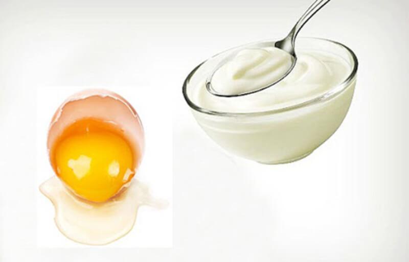 Mặt nạ trứng gà và sữa chua trị mụn cám và dưỡng da