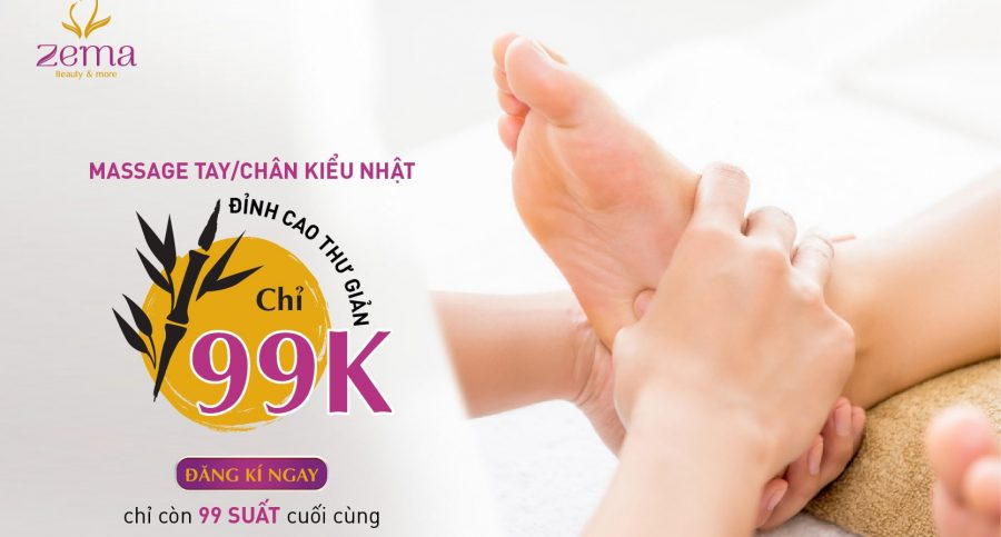 Massage tay chân kiểu Nhật xua tan nhức mõi, giải tỏa stress